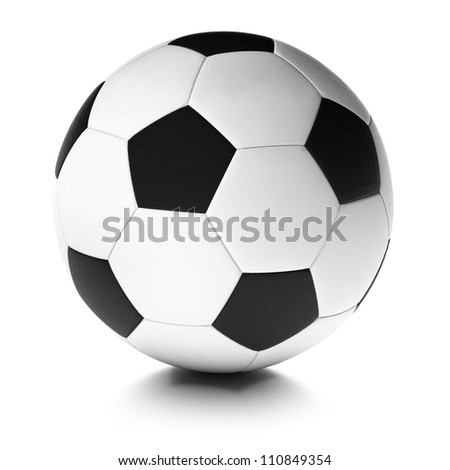 soccer ball over white background, football equipment