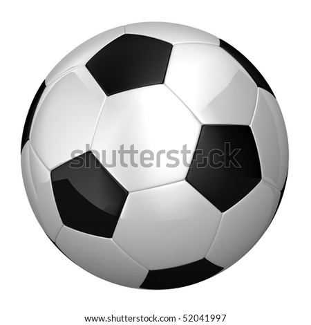 Soccer Ball with clipping path on white background