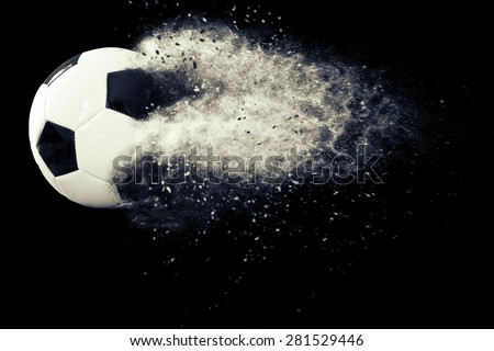 Soccer ball with dust