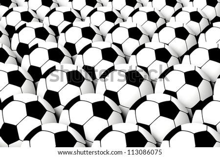 soccer balls bckground - stock photo