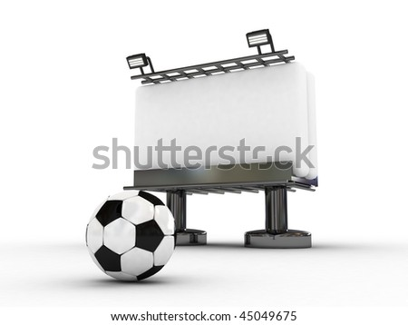 soccer board with ball-3d rendered