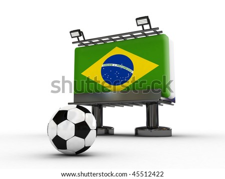 soccer board with flag of Brazil