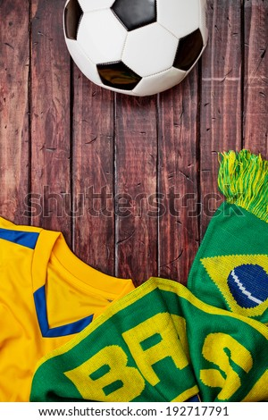 stock photo: brasil soccer background