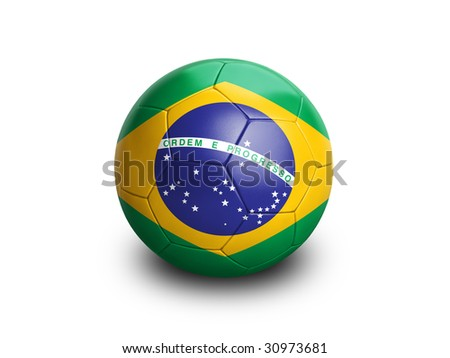 soccer brazil - stock photo