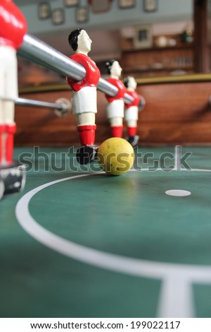 Soccer Brazil shirts Table top Foosball football in team colours