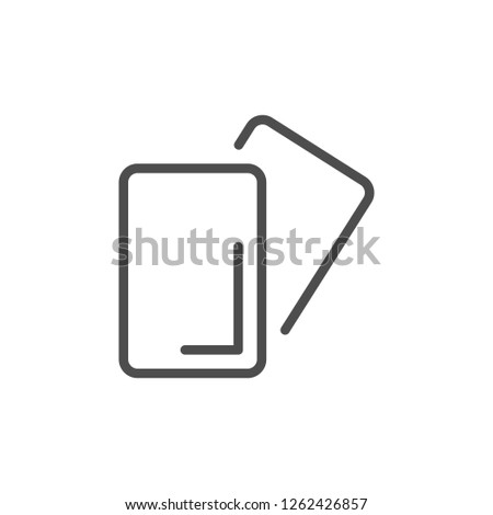 Soccer cards line icon isolated on white