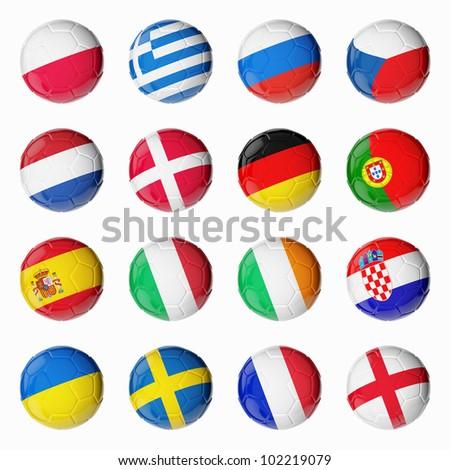 Soccer Euro 2012 - stock photo