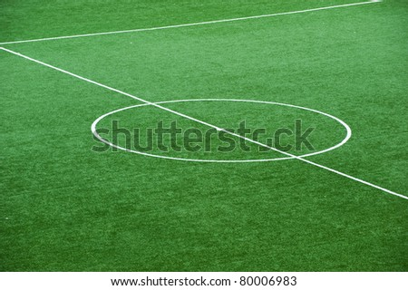 Soccer field, center and sideline.