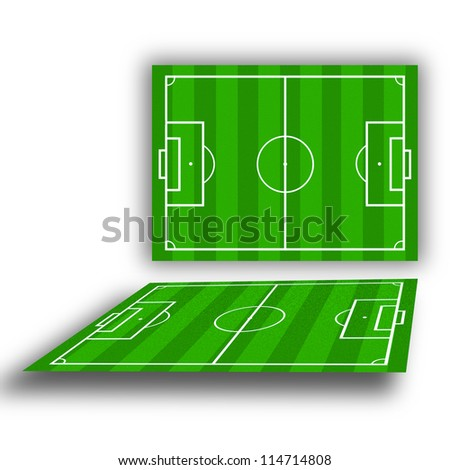 soccer field with lines