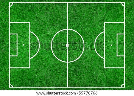 soccer field with lines on grass