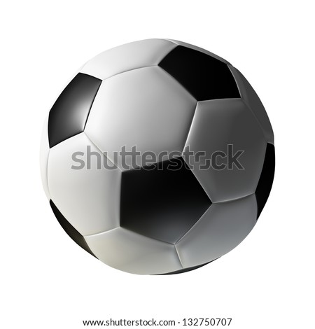 Soccer football ball - classic type, isolated on white, can be used for clipart or icon creation