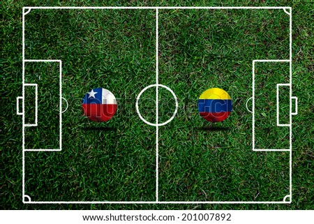 Soccer 2014 ( Football ) Chile and Colombia  #201007892