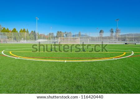 Soccer ( football ) field marks.