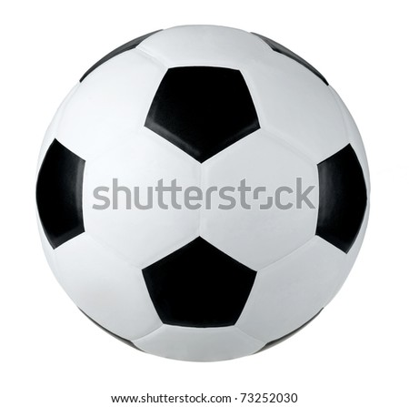 Soccer football isolated on white background