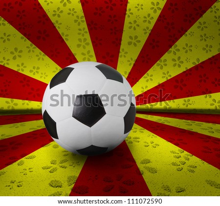 soccer football on color background seem nation flag