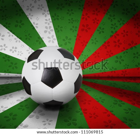 soccer football on color seem national flag