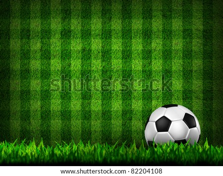 soccer football on grass field