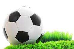 soccer football on green grass field