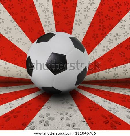 soccer football on symbol background seem the nation flag