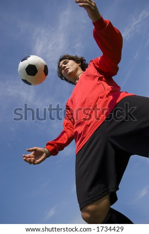 Soccer - Football Player controlling ball