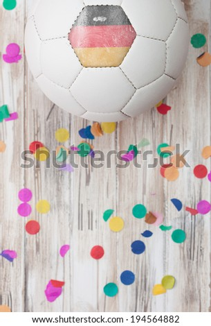 stock photo: germany soccer ball