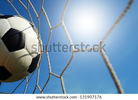 soccer goal football net win winner champion sport game background for design