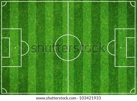 Soccer green field background