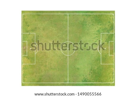 soccer green field football stadium natural grass and standard dimension  for 11 player.