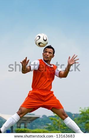 Soccer - heading