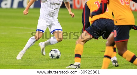 Soccer match 5 - stock photo