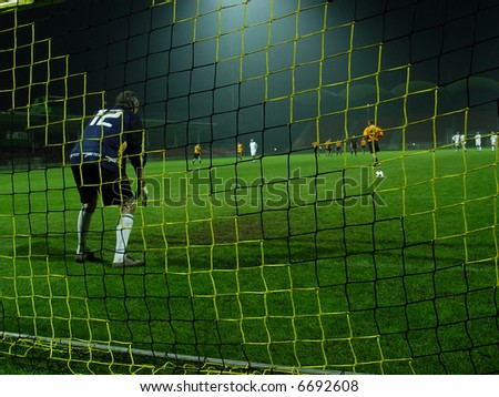 soccer match. goalkeeper
