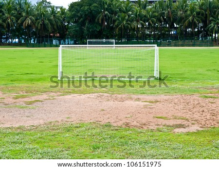 Soccer or football goals - stock photo