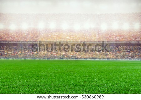 soccer or rugby stadium background #530660989
