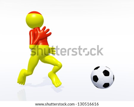 Soccer Player from Spain Computer generated 3D illustration