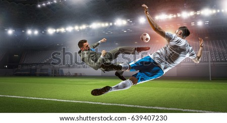 Soccer player in attack