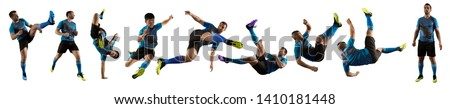 Soccer player man isolated on white background - Image  #1410181448