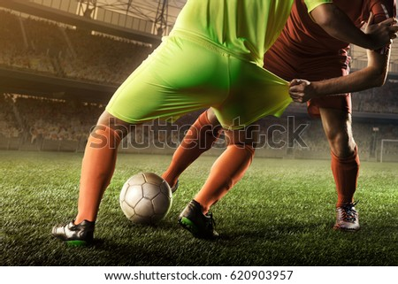 soccer players fighting for a ball #620903957