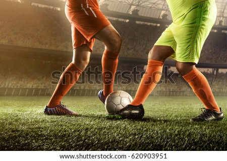 soccer players in action