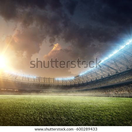 soccer playground with illumination #600289433
