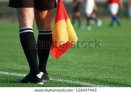 photo of girls soccer with referee № 16411