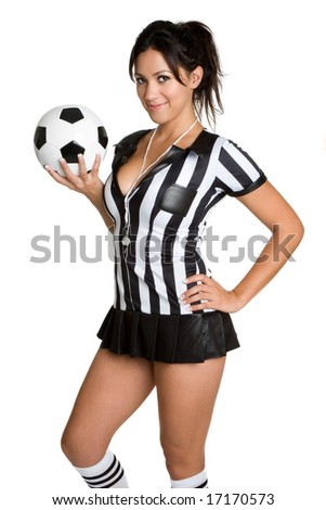 photo of girls soccer with referee № 16403