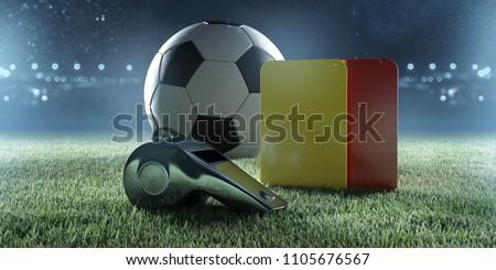 Soccer referee equipment (3D Rendering)