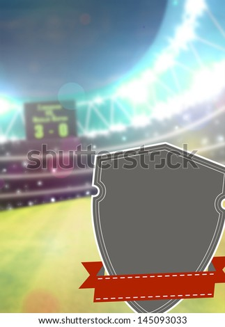 Soccer sport poster or flyer background with space