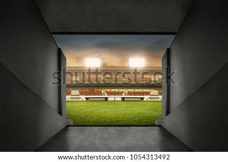 Soccer stadium entrance - Shutterstock ID 1054313492