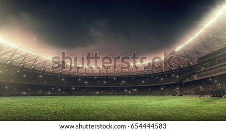 soccer stadium with...