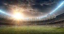soccer stadium with tribune