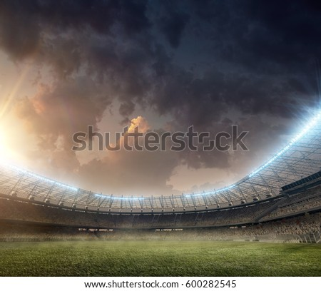 soccer stadium with tribunes #600282545