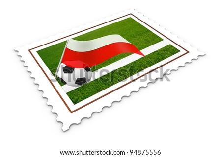 Soccer Stamp  Poland