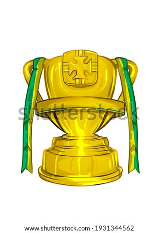 Soccer Trophy Brazil Cup icon Foto stock ©