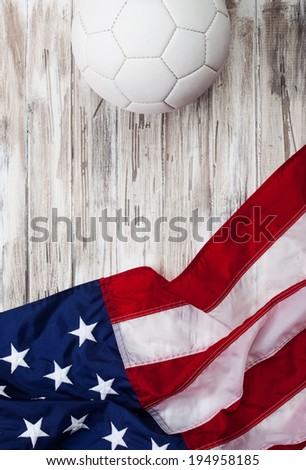 stock photo: usa soccer background